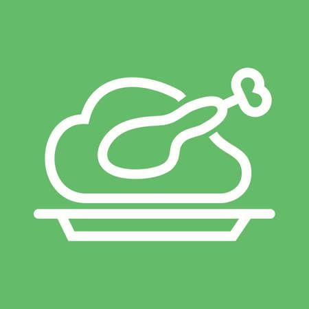 dinner food: La cena, comida, icono del partido del vector image.Can tambi�n ser utilizado para la Navidad, fiestas, celebraciones y fiestas. Adecuado para su uso en aplicaciones web, aplicaciones m�viles y material de impresi�n. Vectores