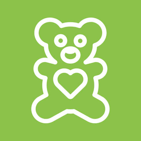 Bear, toy, happy icon vector image.Can also be used for valentine, love, observances and holidays. Suitable for mobile apps, web apps and print media. Illustration