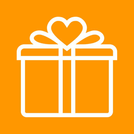 birthday present: Gift, birthday, present icon vector image.Can also be used for valentine, love, observances and holidays. Suitable for mobile apps, web apps and print media.