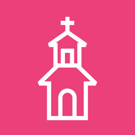 house of god: House, home, building icon vector image.Can also be used for easter, celebration, observances and holidays. Suitable for mobile apps, web apps and print media. Illustration