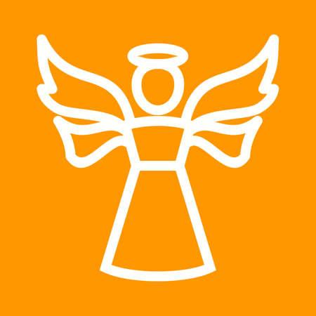 religious icon: �ngel, cielo, religioso vector icono image.Can tambi�n ser utilizado para Pascua, celebraci�n, celebraciones y fiestas. Adecuado para aplicaciones m�viles, aplicaciones web y medios impresos.