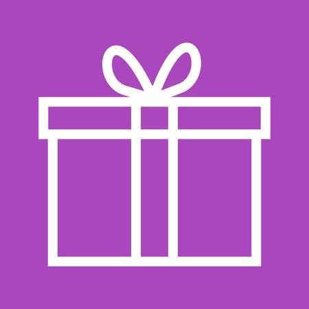 souvenir: Gift, present, birthday icon vector image.Can also be used for easter, celebration, observances and holidays. Suitable for mobile apps, web apps and print media.