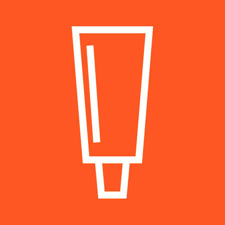 paint tube: Paint, tube, color icon vector image.