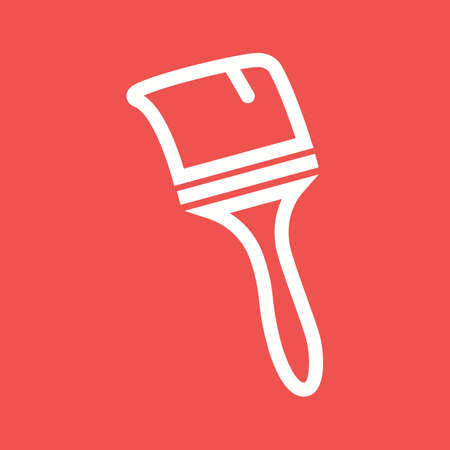 painter decorator: Paint, brush, home icon vector image.