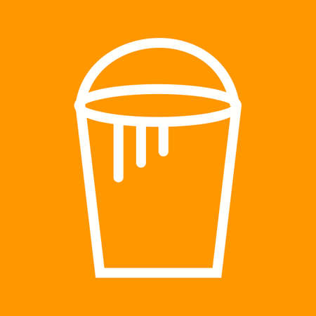 toner: Bucket, paint, plastic icon vector image. Illustration