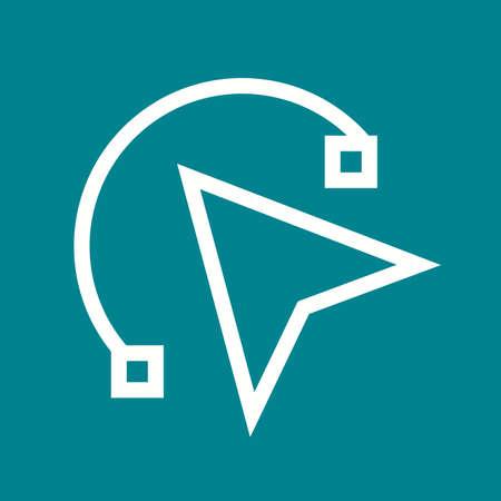 odds: Mouse, design, line icon vector image. Illustration