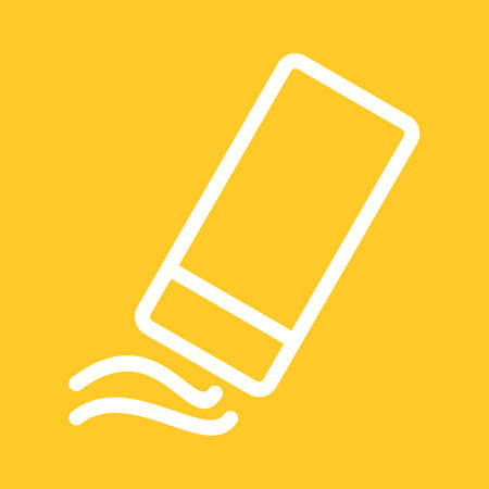 eraser: Eraser, rubber, pencil icon vector image. Illustration