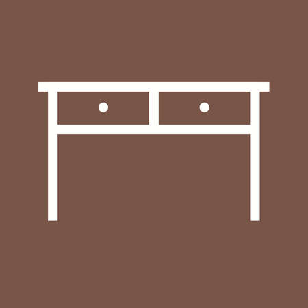 drawer: Table, drawer, home icon vector image.