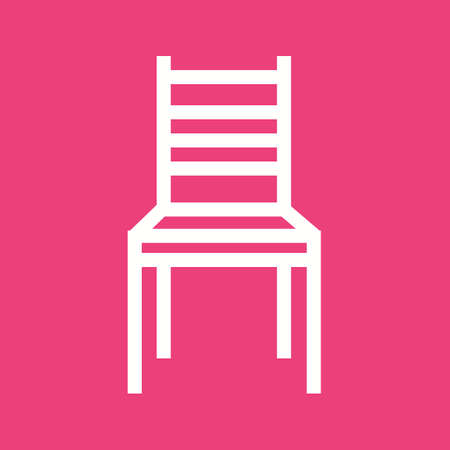 leather chair: Chair, office, modern icon vector image. Vettoriali