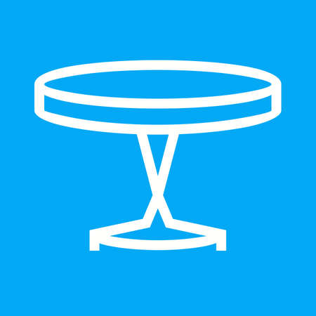 side table: Table, small, side icon vector image. Illustration