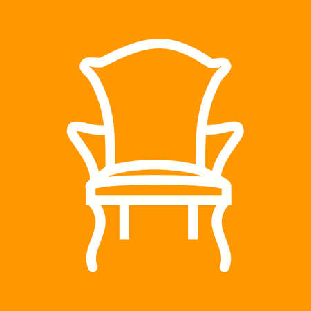 comfortable: Chair, comfortable, modern icon vector image.