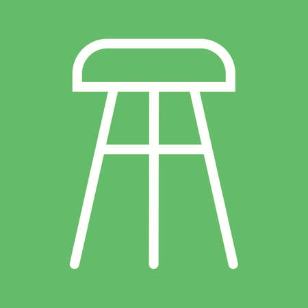 chair wooden: Stool, chair, wooden icon vector image.Can also be used for furniture design. Suitable for mobile apps, web apps and print media. Illustration