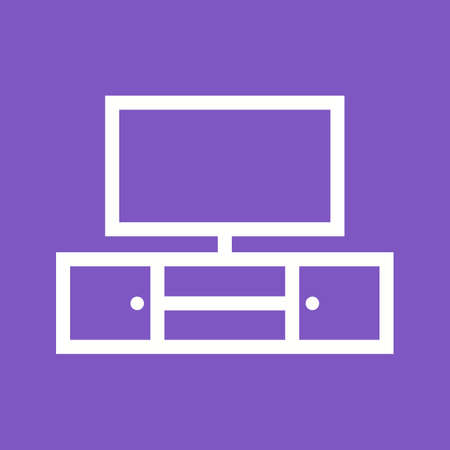 tv unit: Tv, screen, cabinet icon vector image.Can also be used for furniture design. Suitable for mobile apps, web apps and print media.