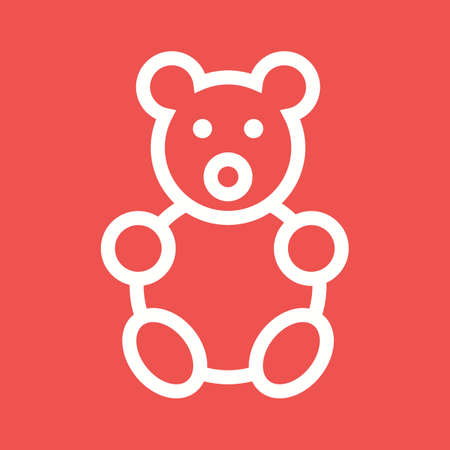 stuffed: Bear, teddy, stuffed icon vector image.Can also be used for toy and games. Suitable for mobile apps, web apps and print media.