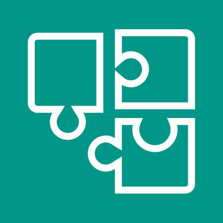 connection block: Puzzle, cube, game icon vector image.Can also be used for toy and games. Suitable for mobile apps, web apps and print media. Illustration