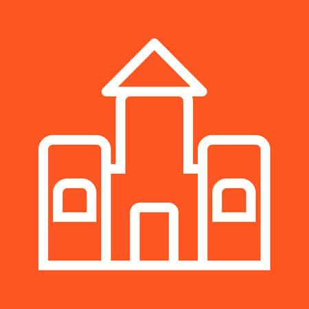 brincolin: Castillo, de saltos, saltando icono de vector tambi�n image.Can utilizarse para juguetes y juegos. Adecuado para aplicaciones m�viles, aplicaciones web y medios impresos.