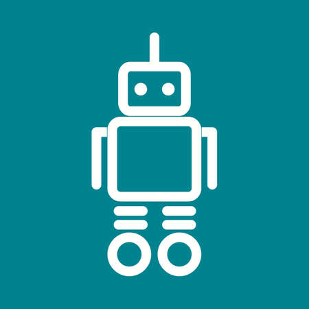future: Robot, future, 3d icon vector image.Can also be used for toy and games. Suitable for mobile apps, web apps and print media.