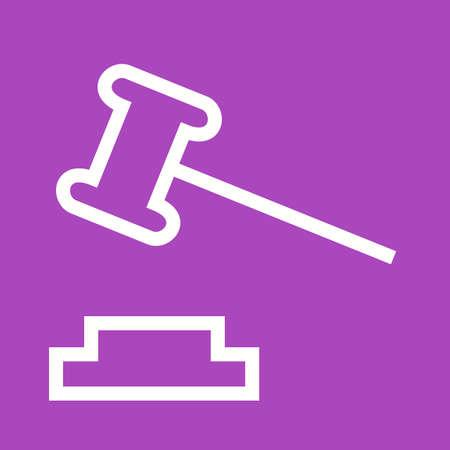 orden judicial: Orden, corte, icono de la responsabilidad del vector image.Can tambi�n ser utilizado para el orden p�blico. Adecuado para aplicaciones m�viles, aplicaciones web y medios impresos. Vectores