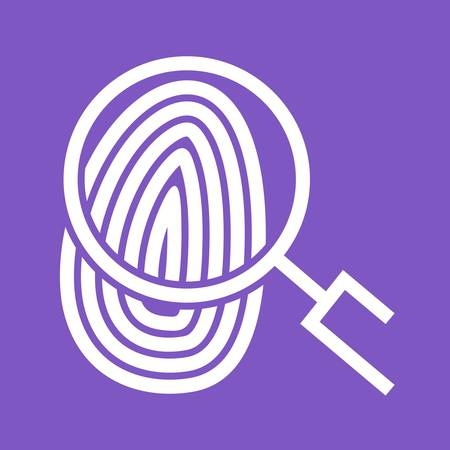 fingermark: Fingerprint, print, unique icon vector image.Can also be used for law and order. Suitable for mobile apps, web apps and print media. Illustration