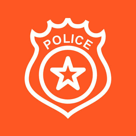 badge vector: Police, badge, law icon vector image.Can also be used for law and order. Suitable for mobile apps, web apps and print media.
