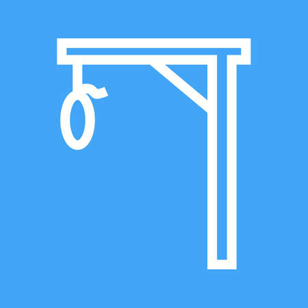 gallow: Gallows, rope, hang icon vector image.Can also be used for law and order. Suitable for mobile apps, web apps and print media.