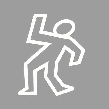 dead body: Dead, body, man icon vector image.Can also be used for law and order. Suitable for mobile apps, web apps and print media.