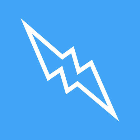 natural forces: Lightning, electric, thunder icon vector image. Can also be used for shapes and geometry. Suitable for use on web apps, mobile apps and print media.