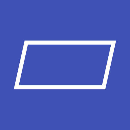 parallelogram: Parallelogram, abstract, design icon vector image. Can also be used for shapes and geometry. Suitable for use on web apps, mobile apps and print media.