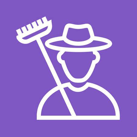 agricultor: Agricultor, el maíz, la agricultura imagen del icono del vector. También se puede utilizar para las actividades. Adecuado para su uso en aplicaciones web, aplicaciones móviles y material de impresión. Vectores