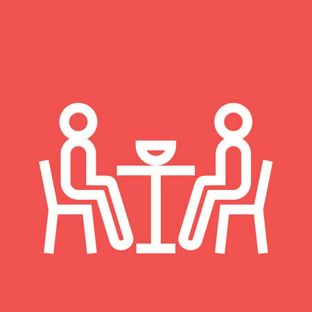 dinner party: Dinner, people, party icon vector image. Can also be used for activities. Suitable for use on web apps, mobile apps and print media.