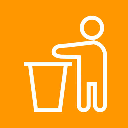 discard: Bin, litter, trash icon vector image. Can also be used for activities. Suitable for use on web apps, mobile apps and print media.