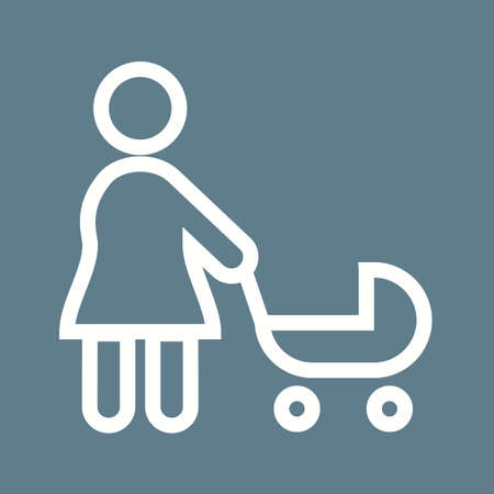 Pram, baby, stroller icon vector image. Can also be used for activities. Suitable for use on web apps, mobile apps and print media.