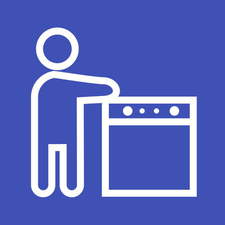 washing the dishes: Washing, dishes, kitchen icon vector image. Can also be used for activities. Suitable for use on web apps, mobile apps and print media.