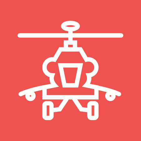 helicopter rescue: Helicopter, military, rescue icon vector image. Can also be used for military. Suitable for use on web apps, mobile apps and print media. Illustration