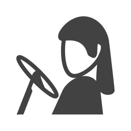 chofer de autobus: Conductor, coche, icono de dirección de imagen vectorial. También se puede utilizar para profesionales. Adecuado para aplicaciones web, aplicaciones móviles y los medios impresos.