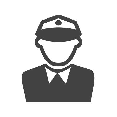 police officer: Police, officer, man icon vector image. Can also be used for professionals. Suitable for web apps, mobile apps and print media. Illustration