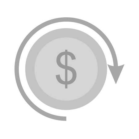 exchange profit: Exchange, dollar, profit, return icon vector image. Can also be used for seo, digital marketing, technology. Suitable for use on web apps, mobile apps and print media. Illustration