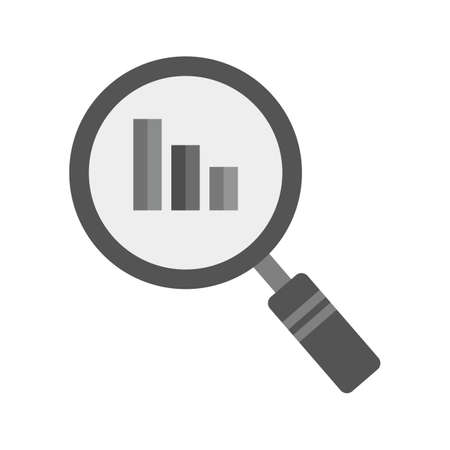 magnifying: Magnifying glass, users, people, analytics icon vector image. Can also be used for seo, digital marketing, technology. Suitable for use on web apps, mobile apps and print media.