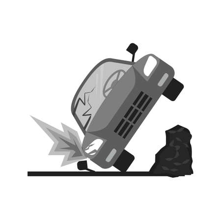 car accident: Car, accident, crash icon vectgor image. Can also be used for transport, transportation and travel. Suitable for mobile apps, web apps and print media.