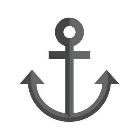 vecotr: Anchor, ship, metal icon vectgor image. Can also be used for transport, transportation and travel. Suitable for mobile apps, web apps and print media.