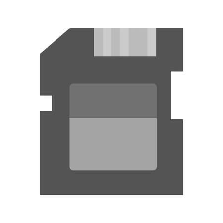 sd card: SD card, memory card, card icon vector image. Can also be used for computer and hardware. Suitable for use on web apps, mobile apps and print media.