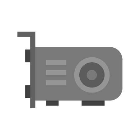 vga: video card, card, vga icon vector image. Can also be used for computer and hardware. Suitable for use on web apps, mobile apps and print media. Foto de archivo