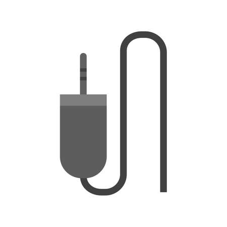 audio plug: Sound cable, audio plug, cord icon vector image. Can also be used for computer and hardware. Suitable for use on web apps, mobile apps and print media. Illustration