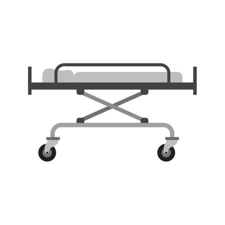 camilla: stretcher, bed, rescue icon vector image. Can also be used for healthcare and medical. Suitable for mobile apps, web apps and print media.