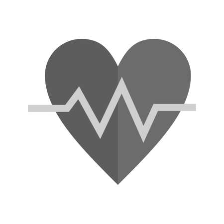 Heart beat, heart, ecg icon vector image. Can also be used for healthcare and medical. Suitable for mobile apps, web apps and print media.