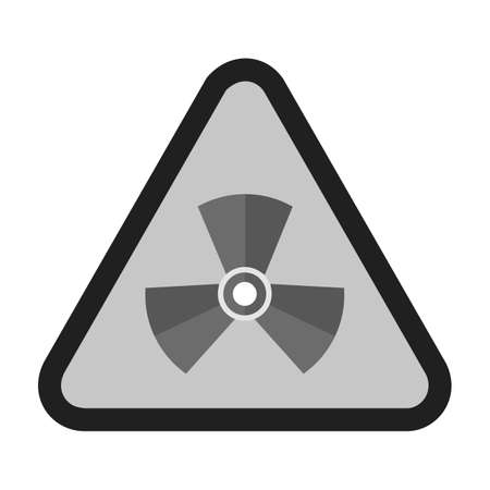 radiation hazard sign: Radiation, radioactive, radio therapy icon vector image. Can also be used for healthcare and medical. Suitable for mobile apps, web apps and print media. Illustration
