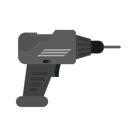 symol: Drill, drill machine, jackhammer icon vector image. Can also be used for construction, interiors and building. Suitable for use on web apps, mobile apps and print media. Illustration