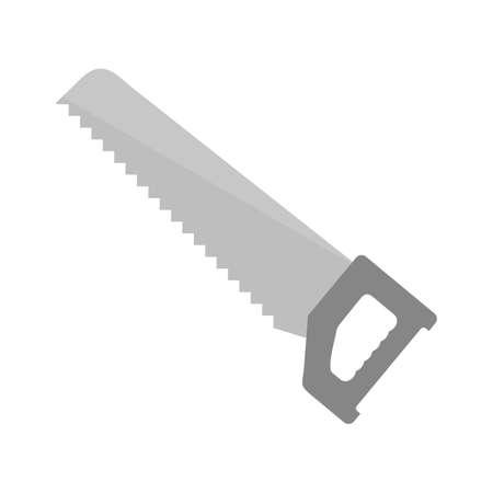 serrucho: Serrucho, el equipo, la imagen del icono del vector de la hoja. También se puede utilizar para la construcción, interiores y la construcción. Adecuado para su uso en aplicaciones web, aplicaciones móviles y material de impresión.