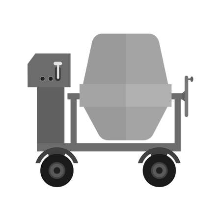 concrete mixer: Cement, concrete, mixing icon vector image. Can also be used for construction, interiors and building. Suitable for use on web apps, mobile apps and print media. Illustration