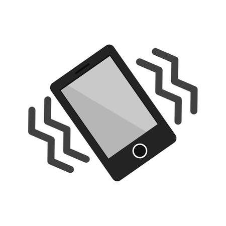 모드, 모바일, 진동 아이콘 벡터 이미지. 또한 모바일 앱, 전화 탭 표시 줄과 설정을 사용할 수 있습니다. 웹 앱, 모바일 앱 및 인쇄 매체에서 사용하기 일러스트